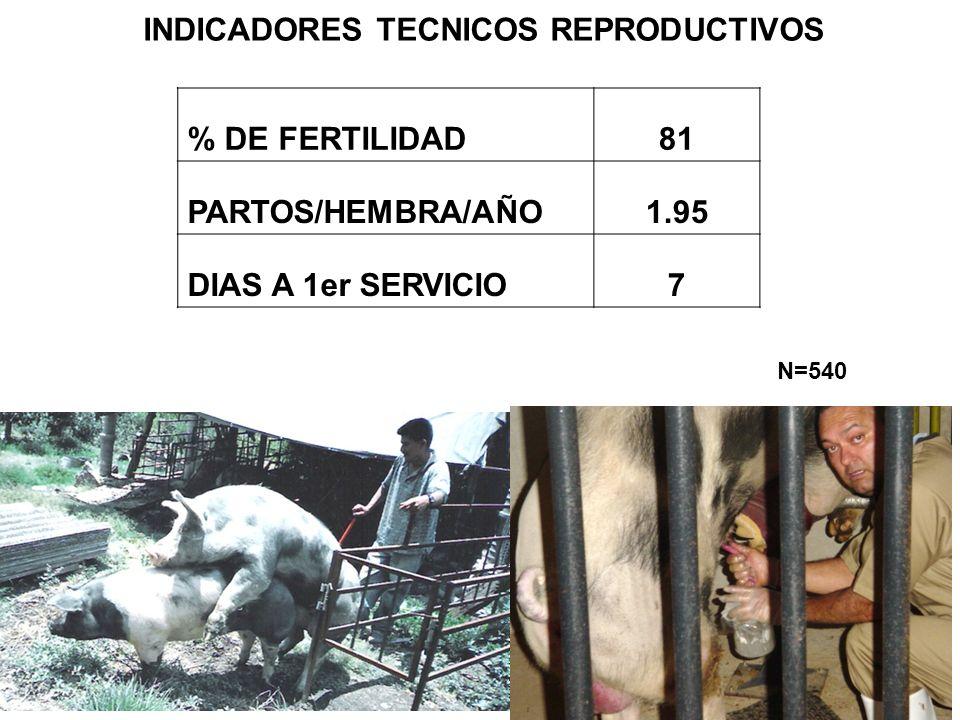 INDICADORES TECNICOS REPRODUCTIVOS