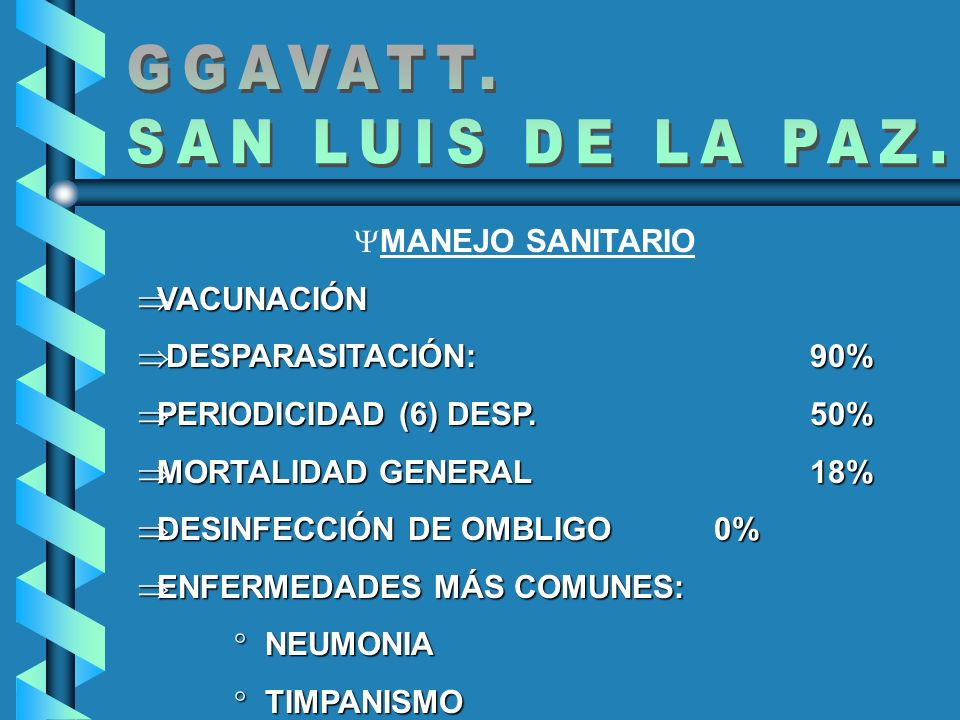 GGAVATT. SAN LUIS DE LA PAZ. MANEJO SANITARIO VACUNACIÓN