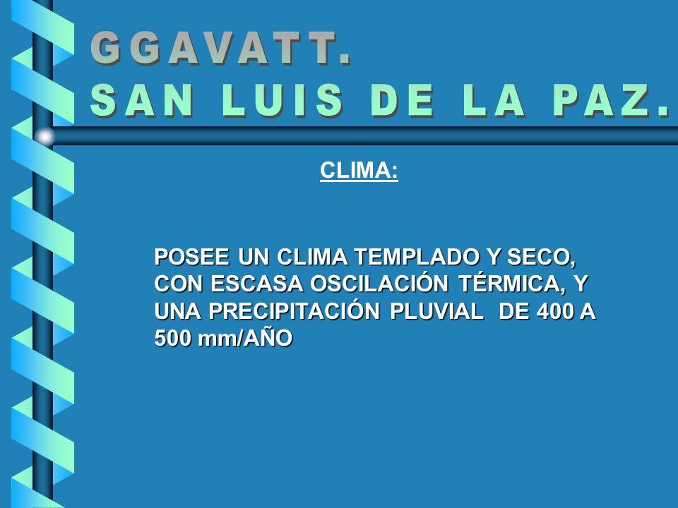 GGAVATT. SAN LUIS DE LA PAZ. CLIMA: