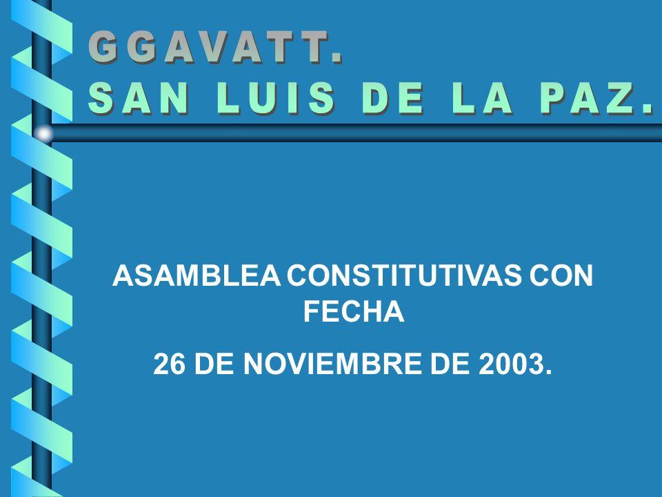 ASAMBLEA CONSTITUTIVAS CON FECHA