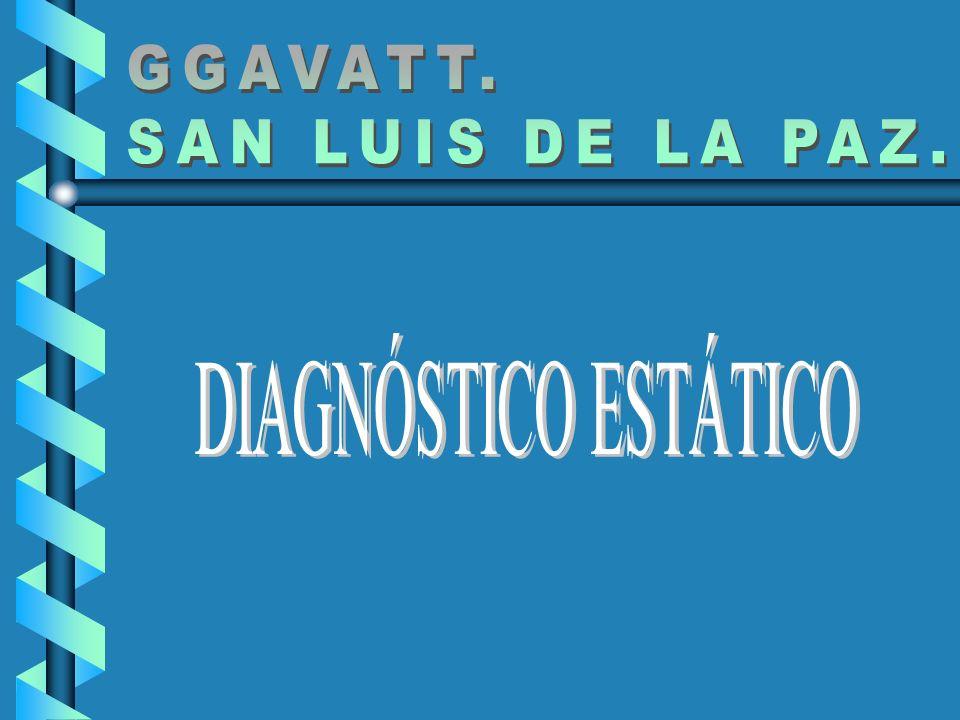 GGAVATT. SAN LUIS DE LA PAZ. DIAGNÓSTICO ESTÁTICO