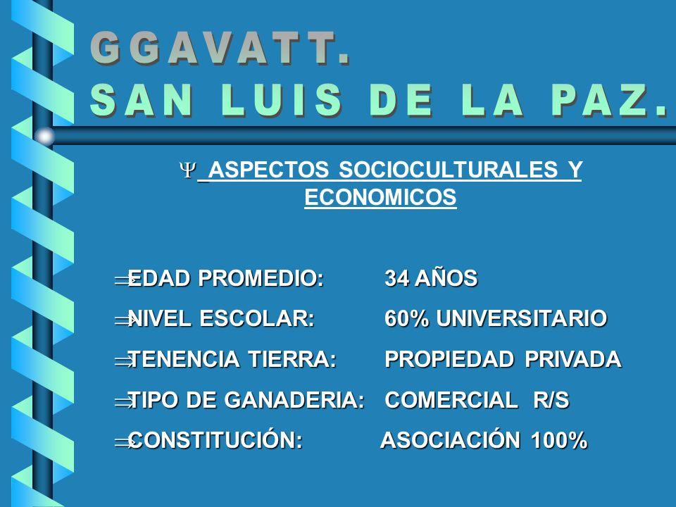 ASPECTOS SOCIOCULTURALES Y ECONOMICOS