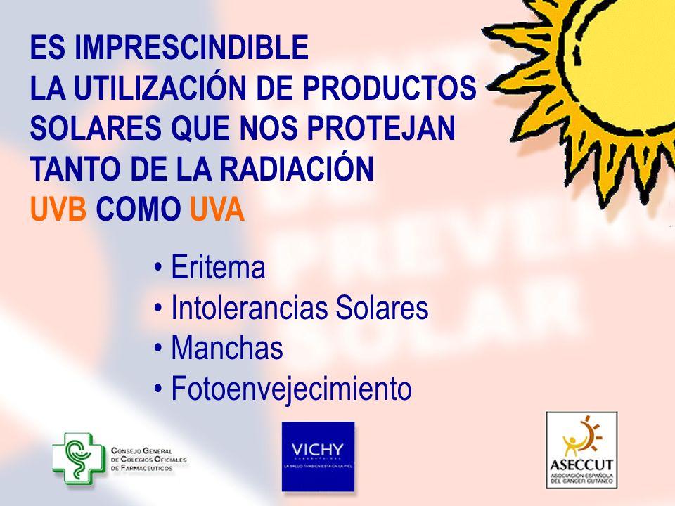 Intolerancias Solares Manchas Fotoenvejecimiento
