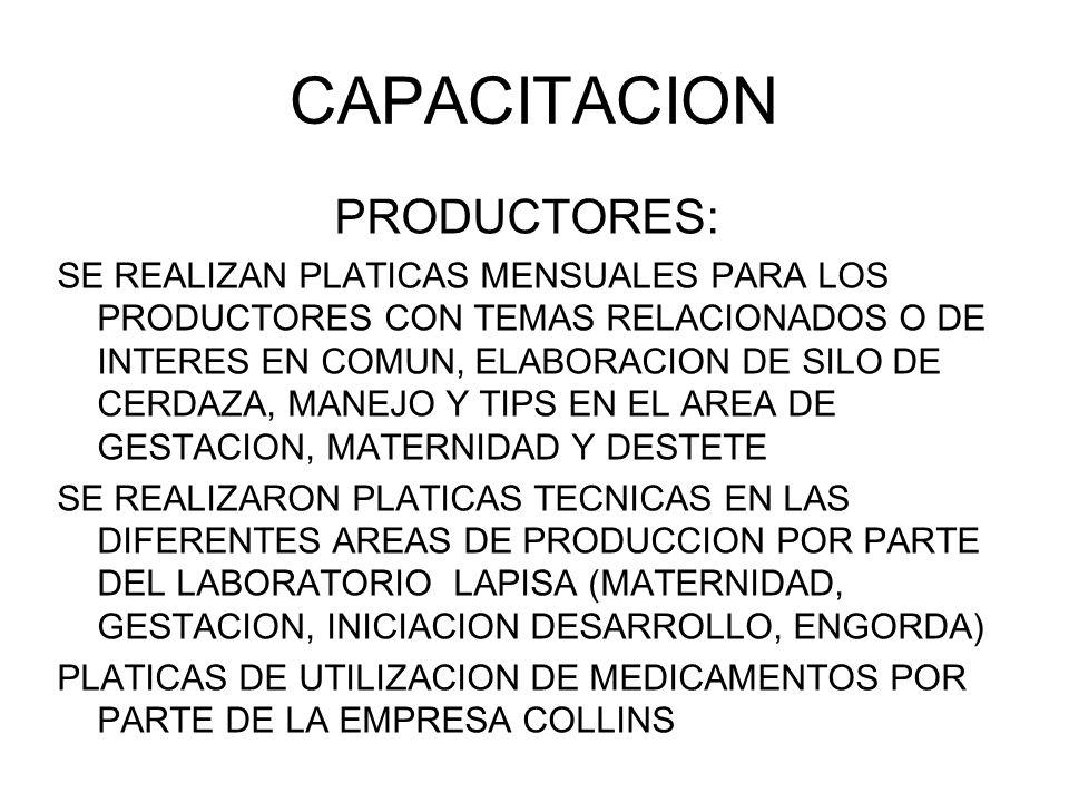 CAPACITACION PRODUCTORES: