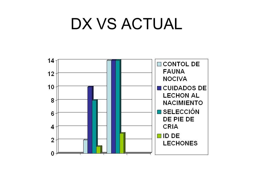 DX VS ACTUAL