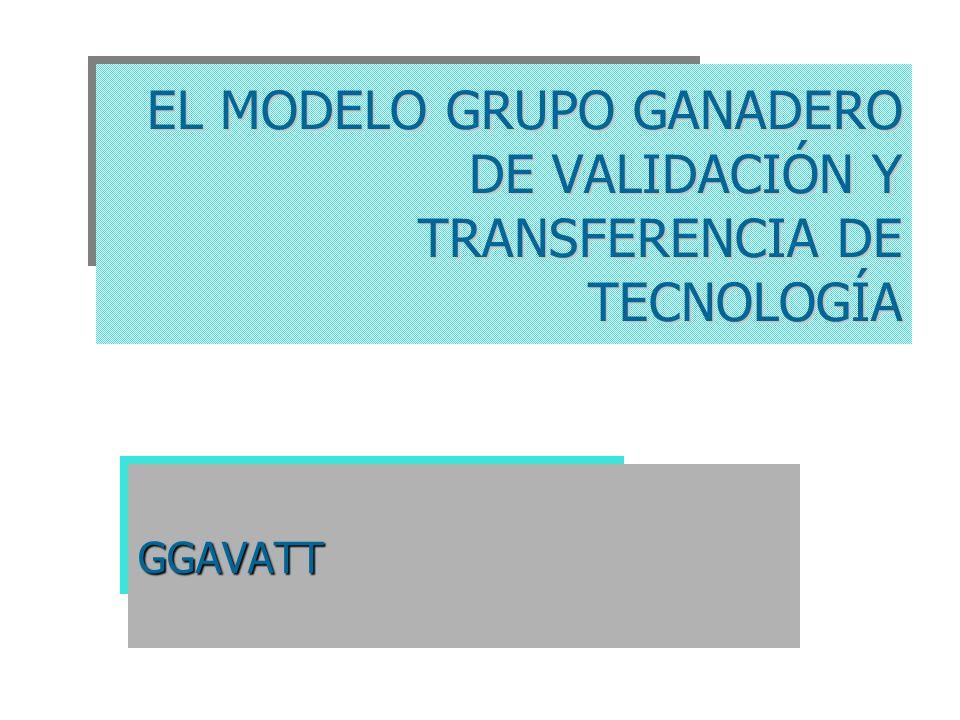 EL MODELO GRUPO GANADERO DE VALIDACIÓN Y TRANSFERENCIA DE TECNOLOGÍA