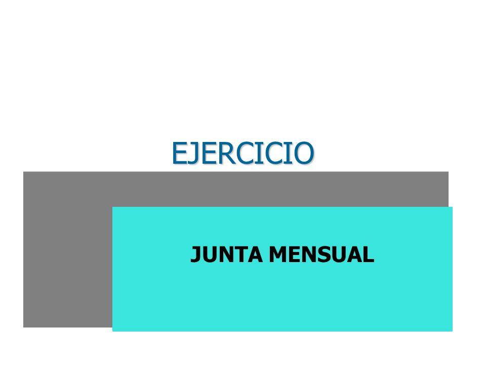 EJERCICIO JUNTA MENSUAL