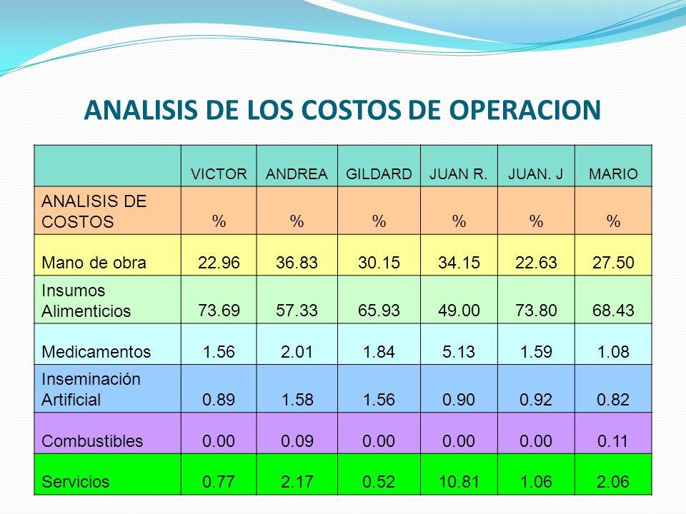 ANALISIS DE LOS COSTOS DE OPERACION