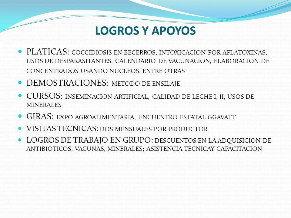 LOGROS Y APOYOS