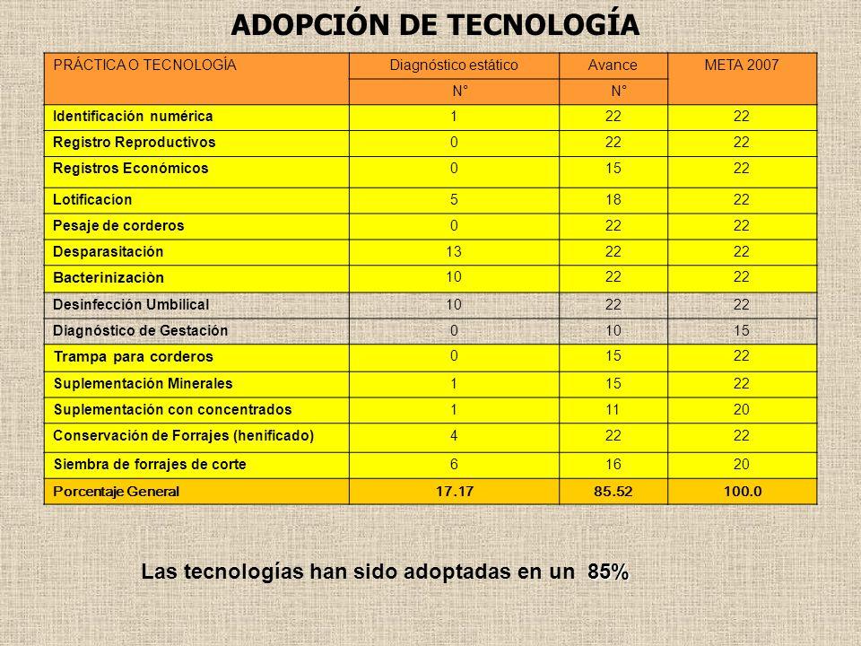 ADOPCIÓN DE TECNOLOGÍA