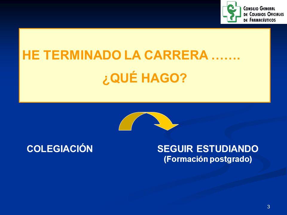 SEGUIR ESTUDIANDO (Formación postgrado)