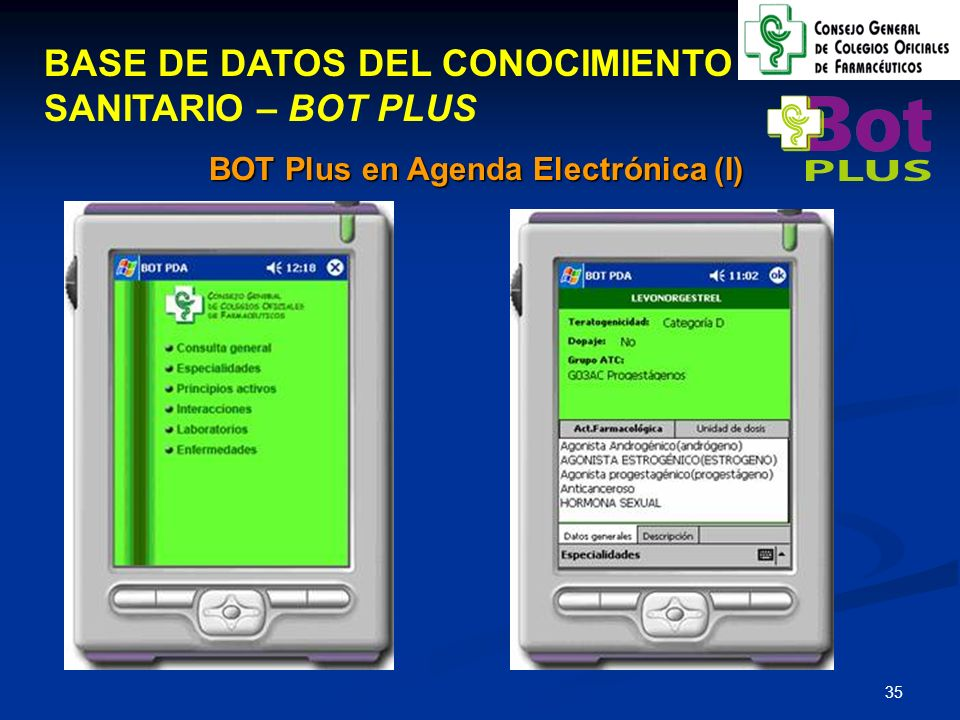 BOT Plus en Agenda Electrónica (I)