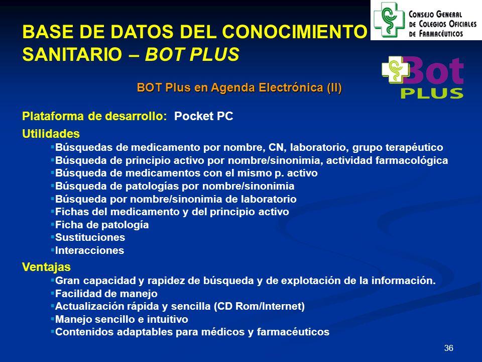 BOT Plus en Agenda Electrónica (II)
