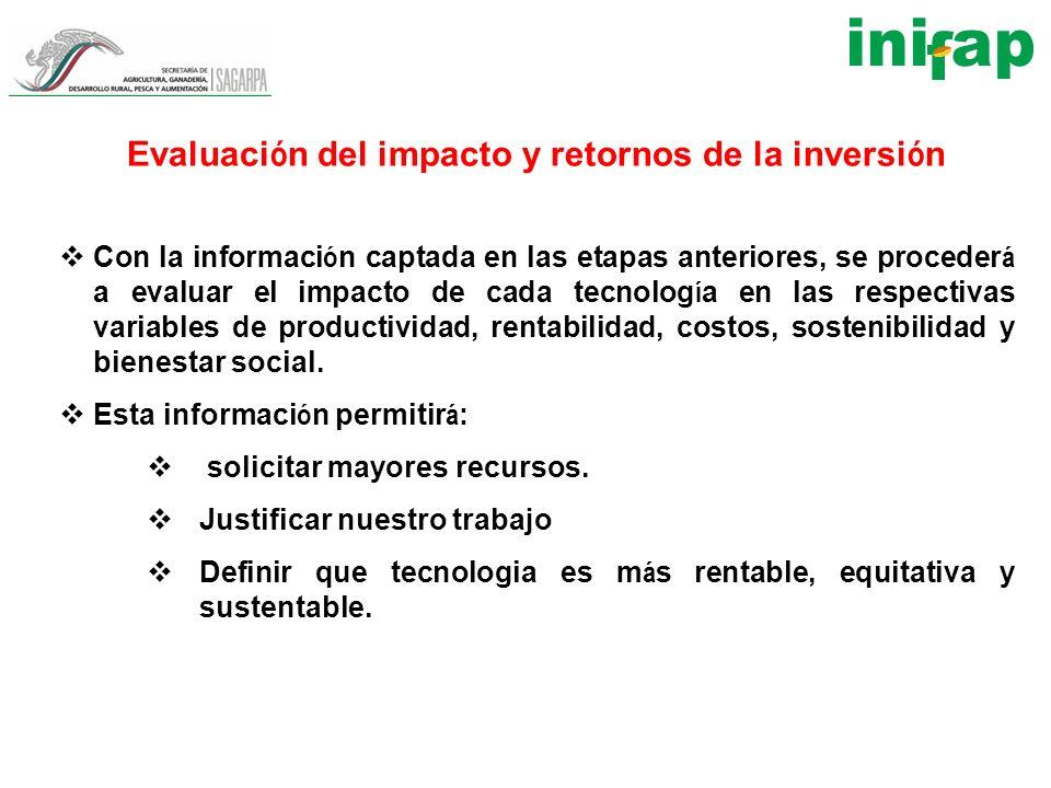 Evaluación del impacto y retornos de la inversión