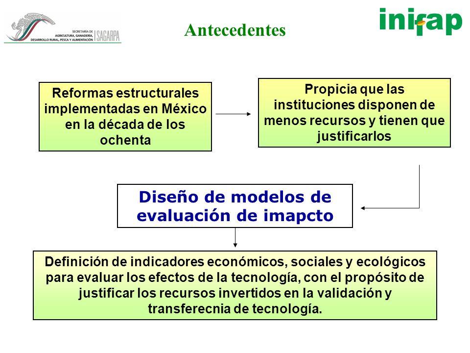Diseño de modelos de evaluación de imapcto