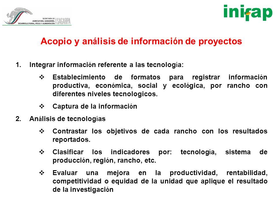 Acopio y análisis de información de proyectos