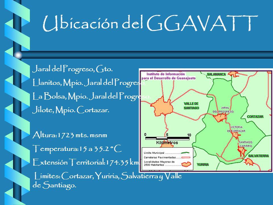 Ubicación del GGAVATT Jaral del Progreso, Gto.