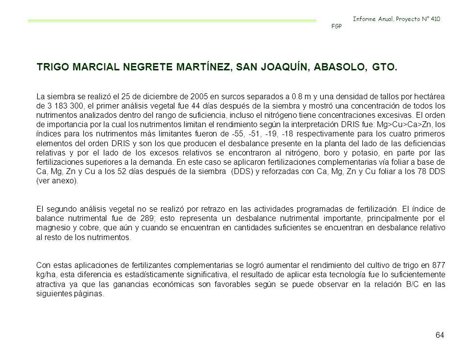 TRIGO MARCIAL NEGRETE MARTÍNEZ, SAN JOAQUÍN, ABASOLO, GTO.