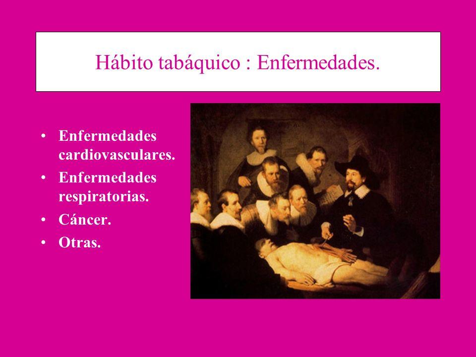 Hábito tabáquico : Enfermedades.