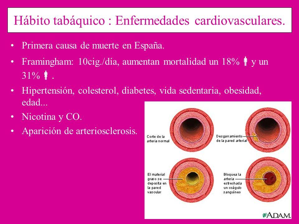 Hábito tabáquico : Enfermedades cardiovasculares.