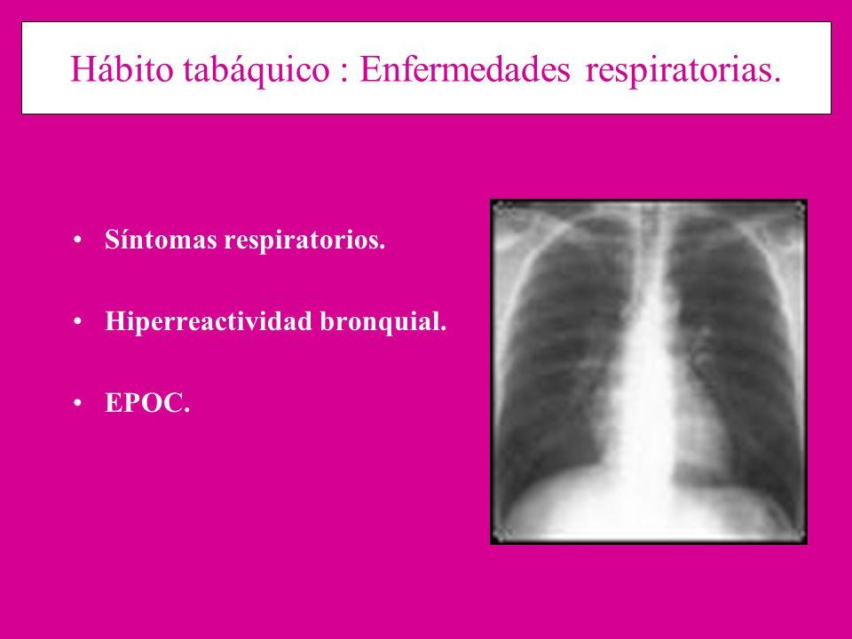 Hábito tabáquico : Enfermedades respiratorias.