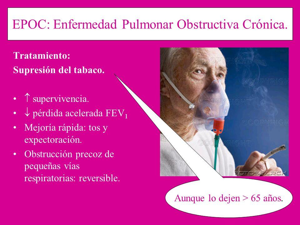 EPOC: Enfermedad Pulmonar Obstructiva Crónica.