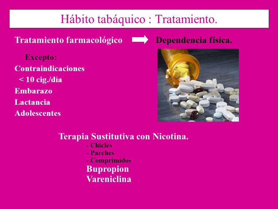 Hábito tabáquico : Tratamiento.