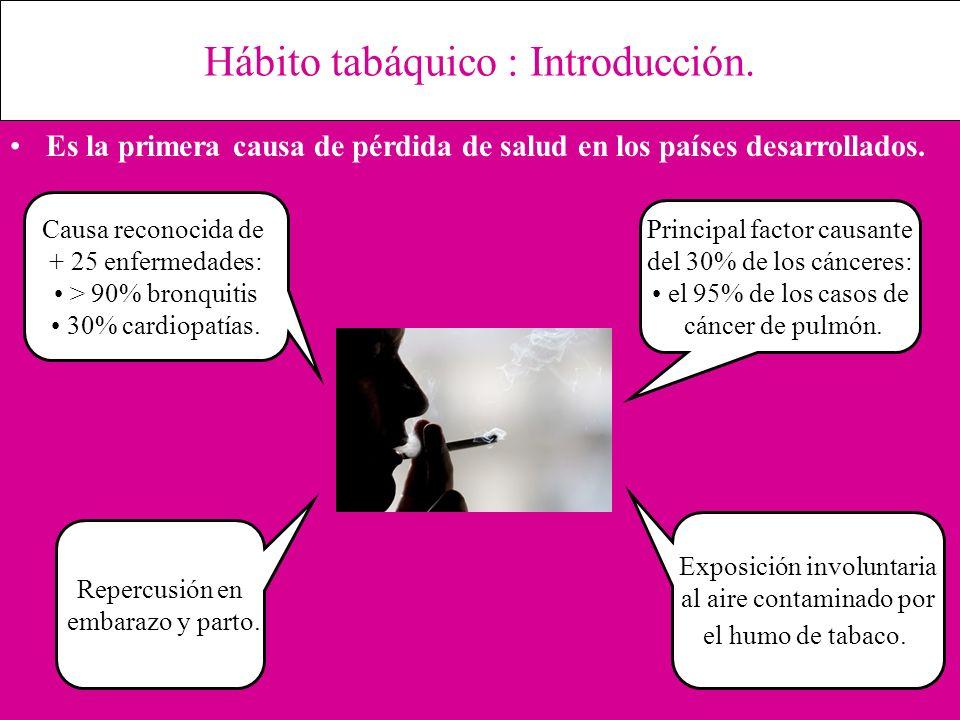 Hábito tabáquico : Introducción.