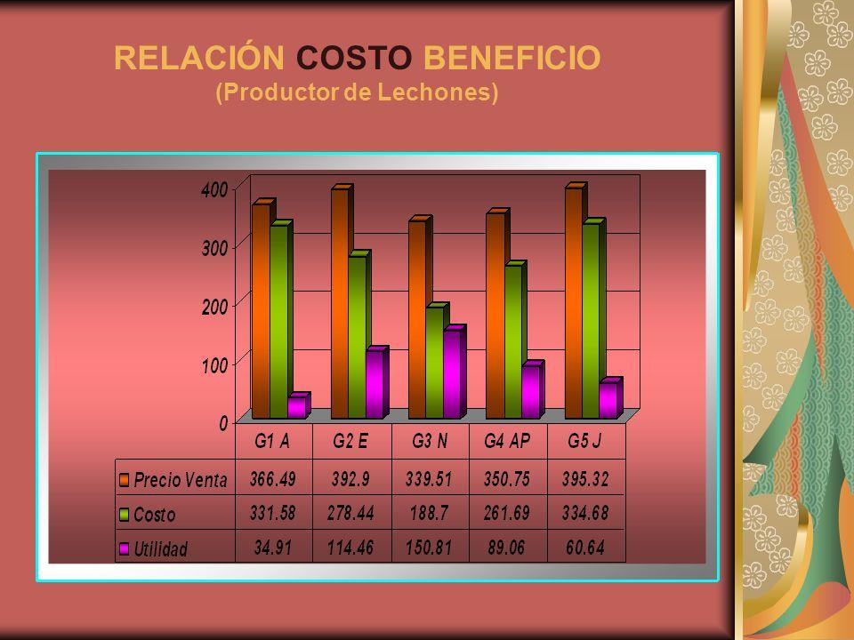 RELACIÓN COSTO BENEFICIO (Productor de Lechones)