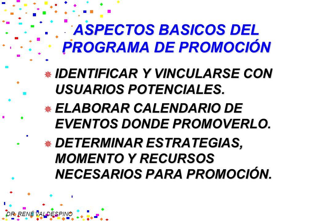 ASPECTOS BASICOS DEL PROGRAMA DE PROMOCIÓN