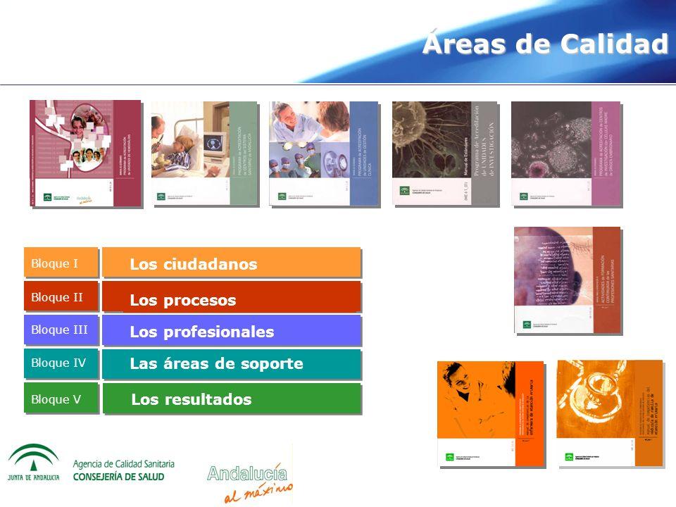 Áreas de Calidad Los ciudadanos Los procesos Los profesionales