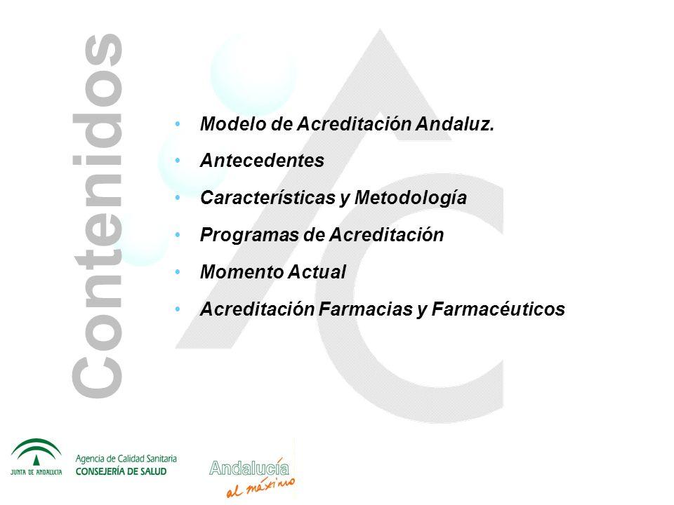 Contenidos Modelo de Acreditación Andaluz. Antecedentes
