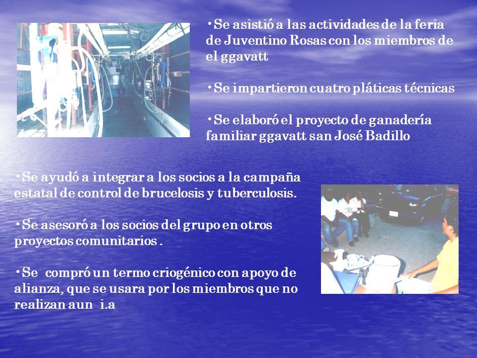Se asistió a las actividades de la feria de Juventino Rosas con los miembros de el ggavatt