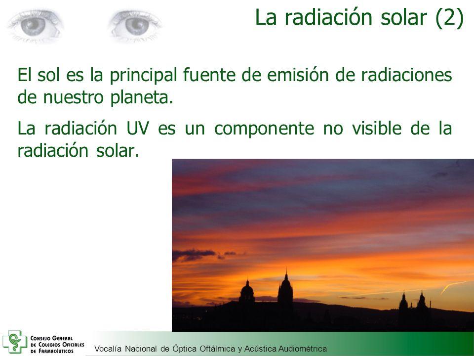 La radiación solar (2) El sol es la principal fuente de emisión de radiaciones de nuestro planeta.