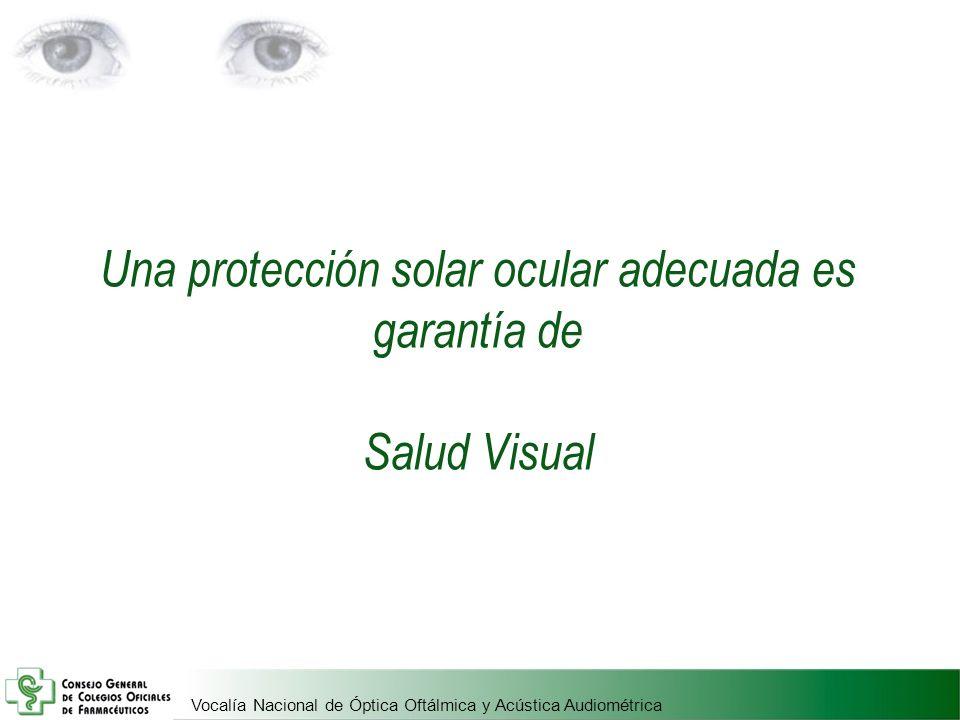 Una protección solar ocular adecuada es garantía de Salud Visual
