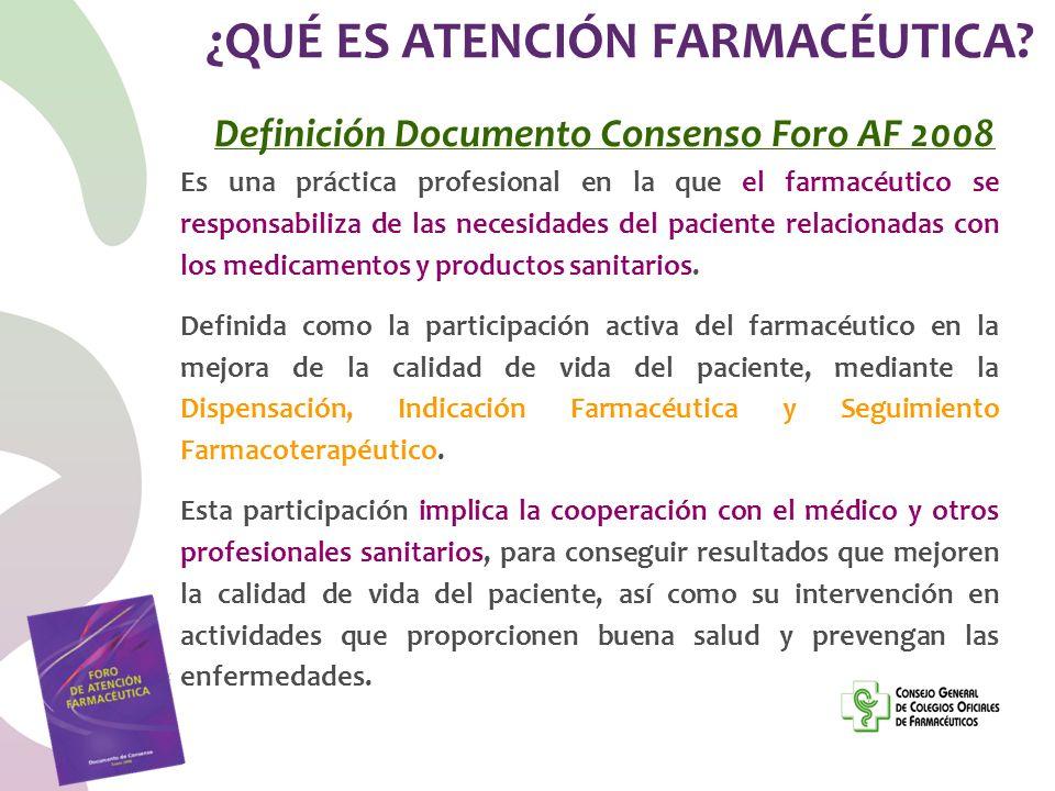 ¿QUÉ ES ATENCIÓN FARMACÉUTICA