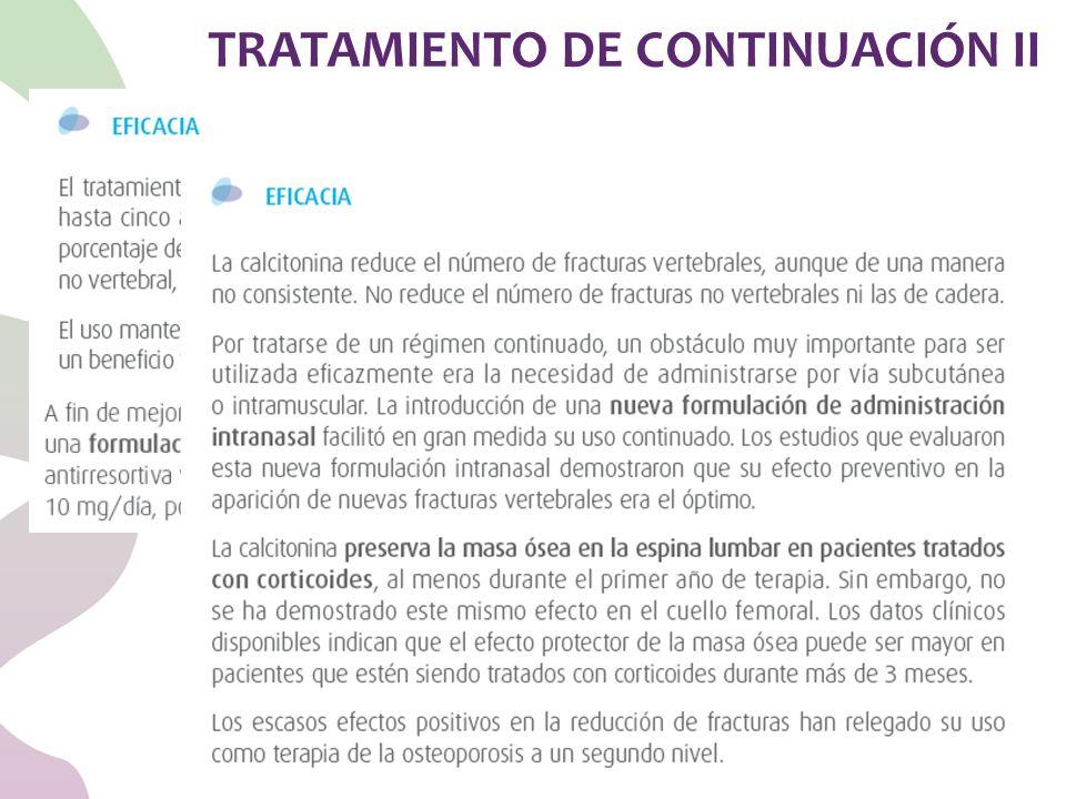 TRATAMIENTO DE CONTINUACIÓN II