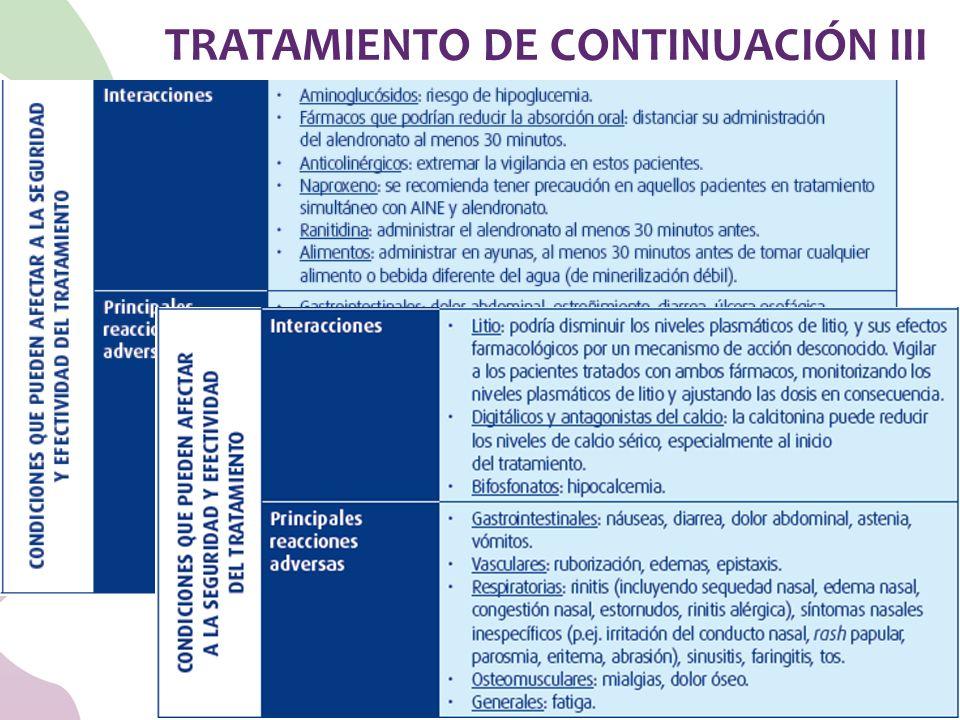 TRATAMIENTO DE CONTINUACIÓN III