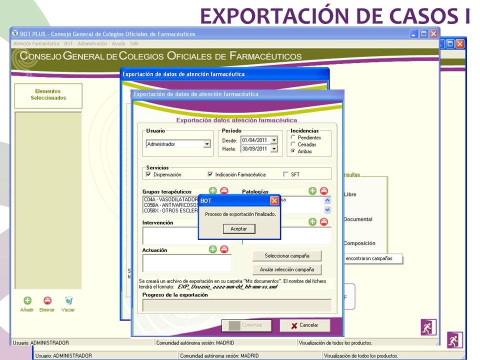 EXPORTACIÓN DE CASOS I
