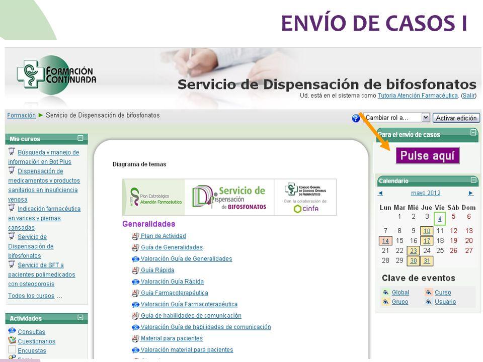ENVÍO DE CASOS I 77