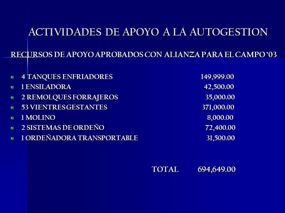 ACTIVIDADES DE APOYO A LA AUTOGESTION
