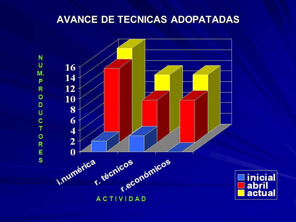 AVANCE DE TECNICAS ADOPATADAS
