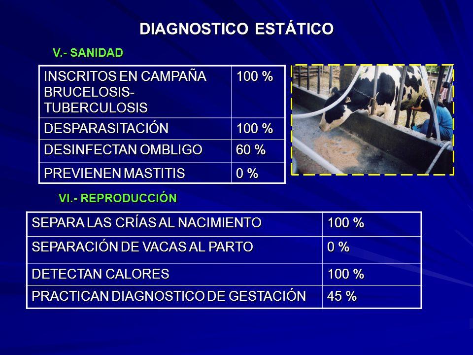 DIAGNOSTICO ESTÁTICO INSCRITOS EN CAMPAÑA BRUCELOSIS-TUBERCULOSIS