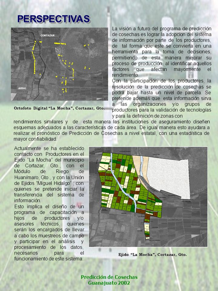 Predicción de Cosechas Guanajuato 2002