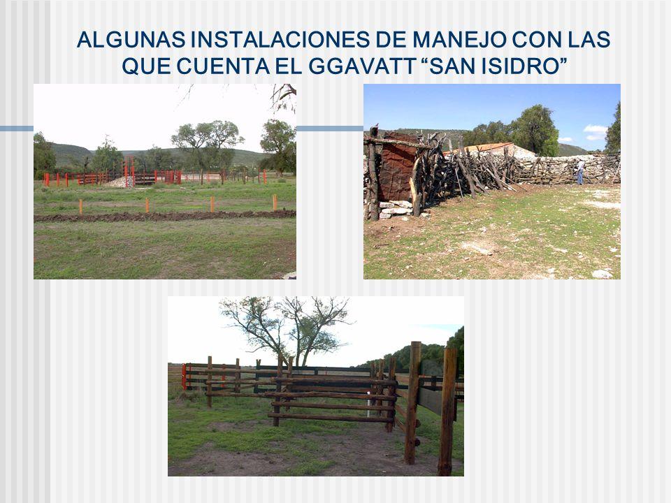 ALGUNAS INSTALACIONES DE MANEJO CON LAS QUE CUENTA EL GGAVATT SAN ISIDRO