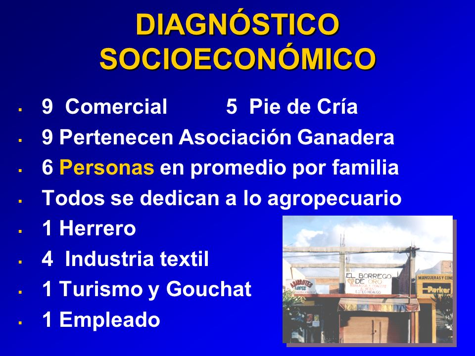 DIAGNÓSTICO SOCIOECONÓMICO