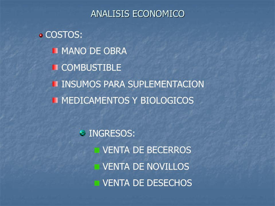INSUMOS PARA SUPLEMENTACION MEDICAMENTOS Y BIOLOGICOS