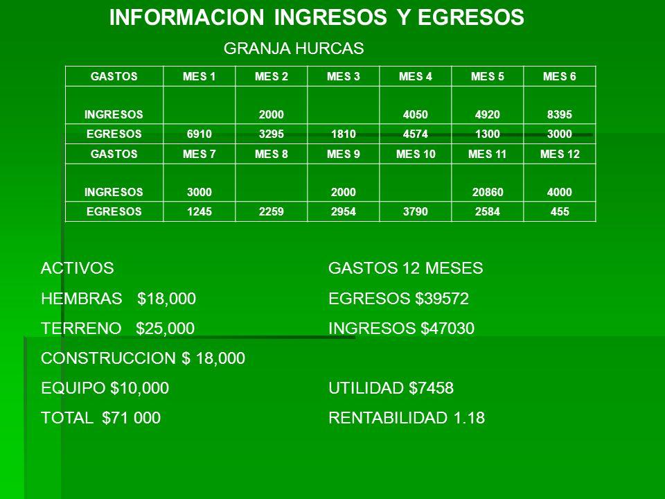 INFORMACION INGRESOS Y EGRESOS