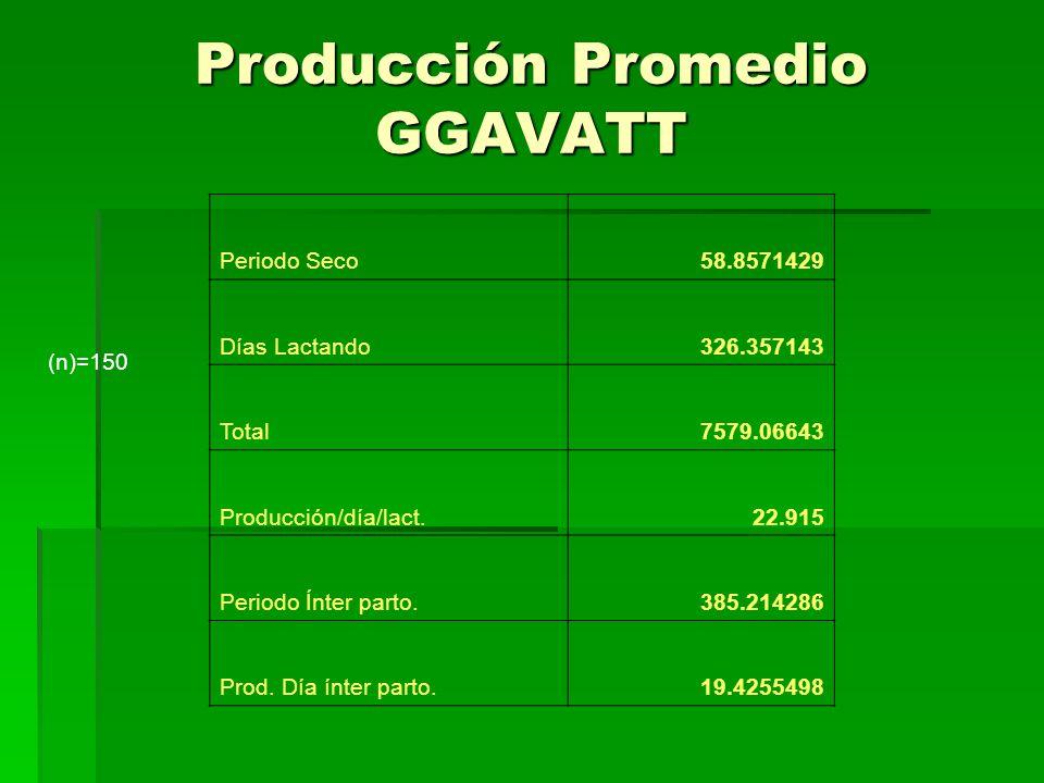 Producción Promedio GGAVATT