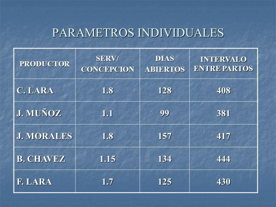 PARAMETROS INDIVIDUALES